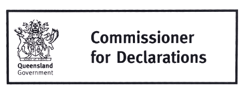 Commissioner for declarations